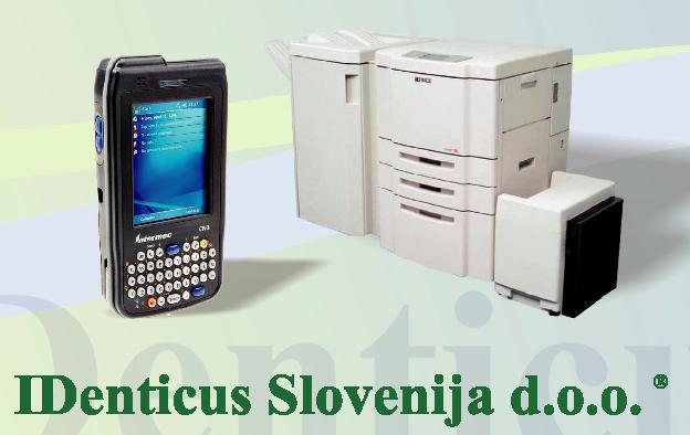 IDenticus Slovenij d.o.o. podjetje za avtomatsko identifikacijo.
