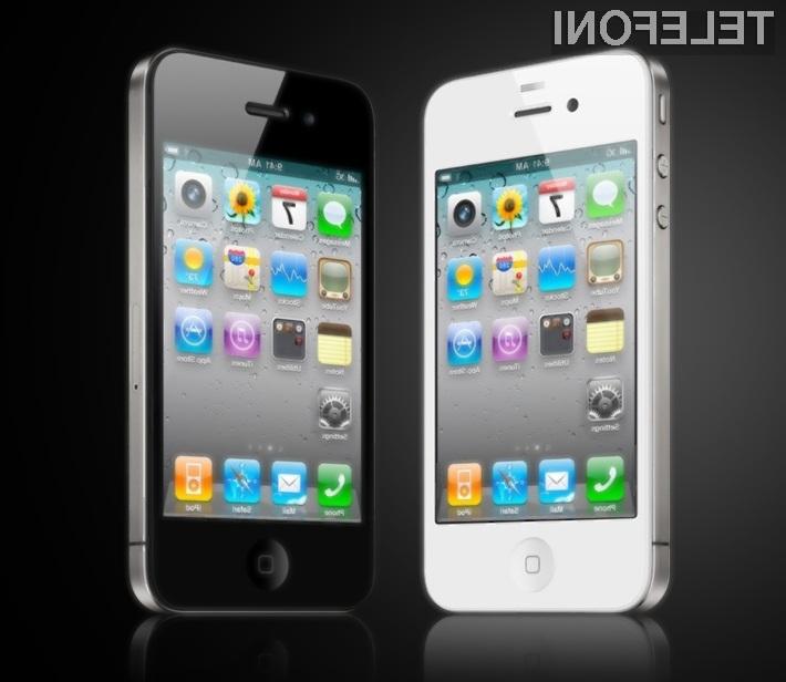 Mobilnik Apple iPhone 4G ugledal luč sveta