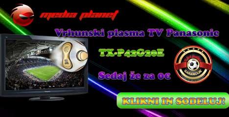 Podarjamo Panasonic Plasmo TX-P42G20