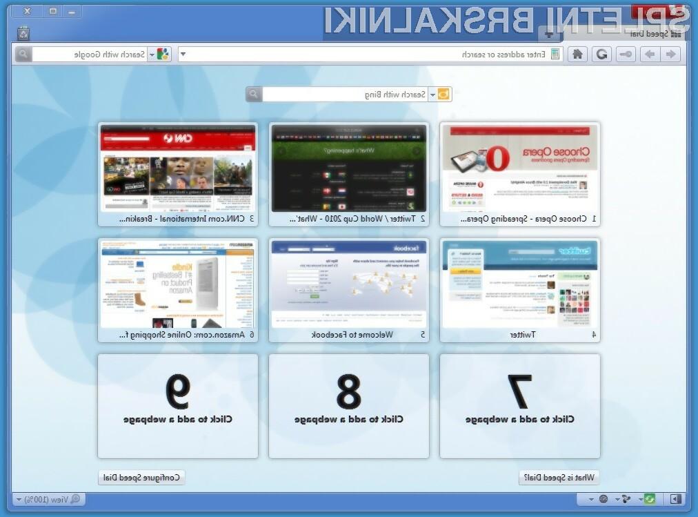 Spletni brskalnik Opera je bogatejši za WebM in HTML5.