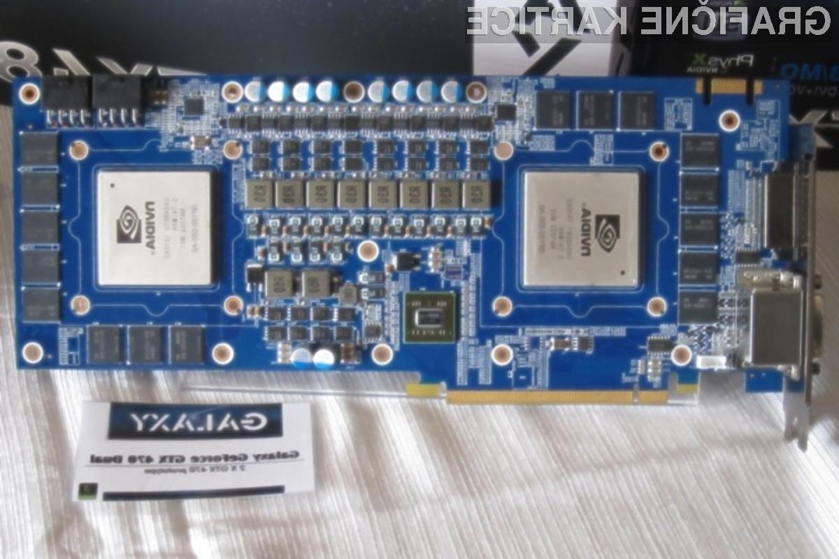 Grafično kartico Galaxy Dual GeForce GTX 470 bomo le stežka izkoristili v celoti!