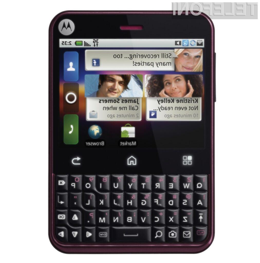 Oblikovno zanimiv mobilnik Motorola Charm je pisan na kožo poslovnikom in ljubiteljem socialnih mrež.