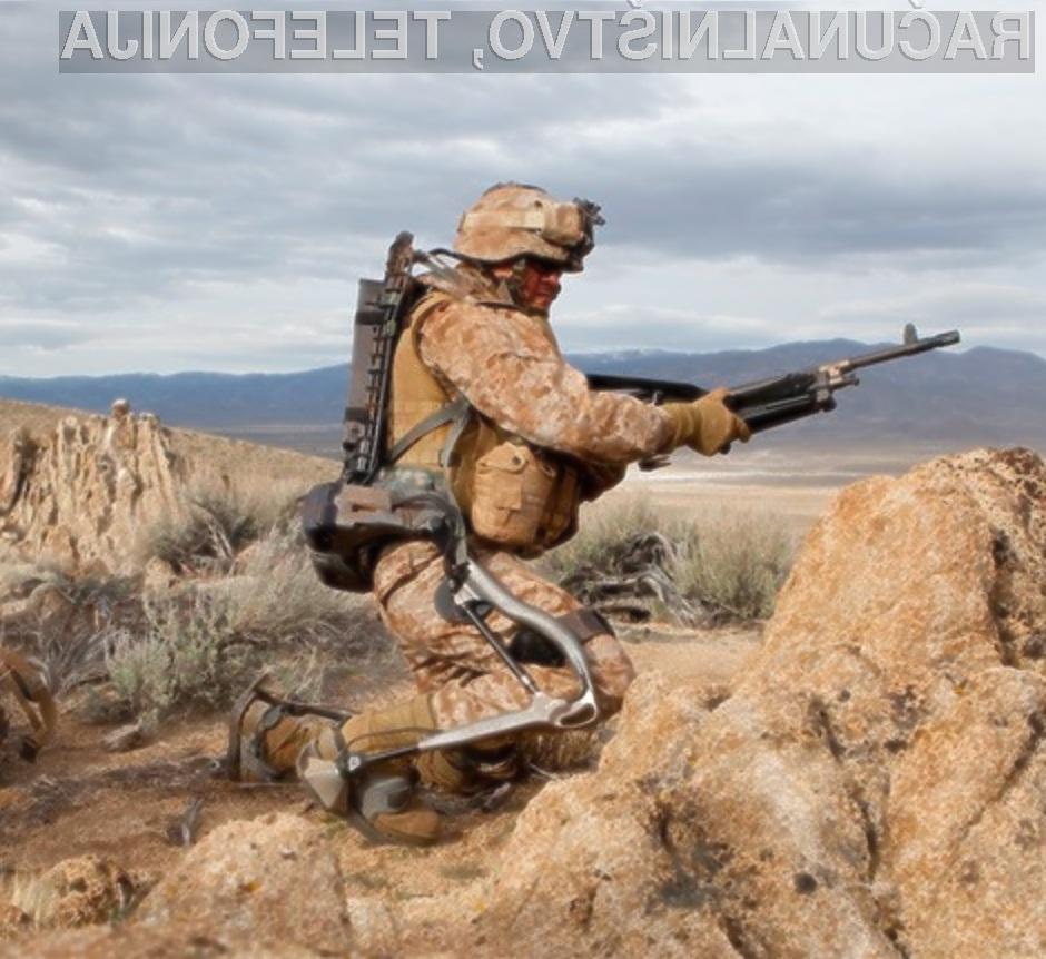 Robotska obleka naj bi vojakom precej olajšala vsakodnevna opravila na bojiščih!