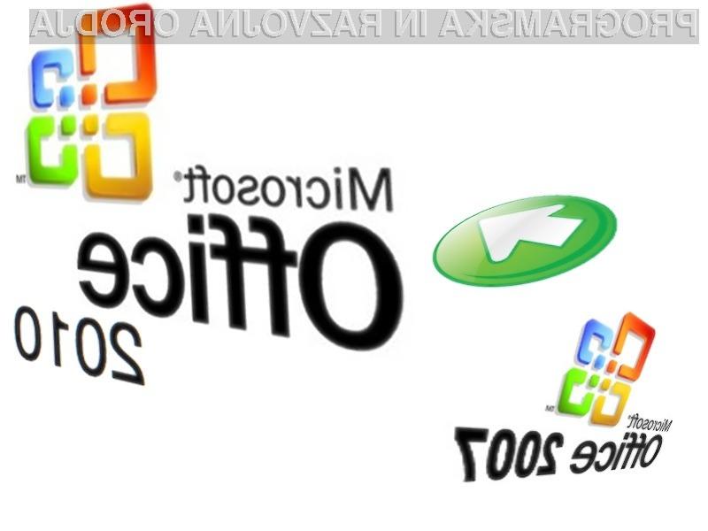 Kupcem Office 2007 na voljo brezplačna nadgradnja na različico 2010