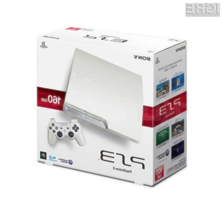 Priljubljena igralna konzola PlayStation 3 bo kmalu na voljo tudi v snežno beli barvi!