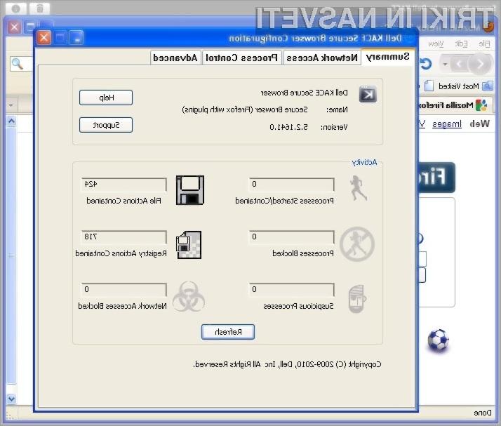 S programskim vstavkom Secure Browser podjetja Dell bo deskanje po svetovnem spletu občutno varnejše.