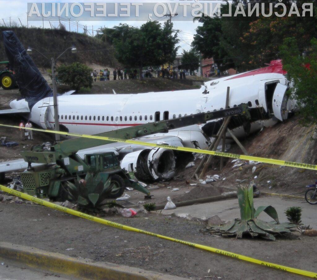 Za nesrečo letala je bila posredno kriva programska oprema