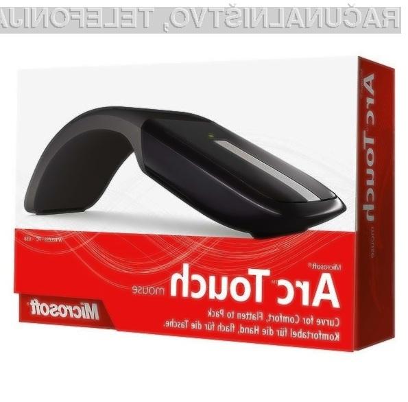 Microsoftova futuristična miška Arc Touch naj bi se tržila kot za stavo.