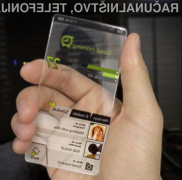 Vsestransko uporabni in oblikovno všečni pametni mobilni telefon Windows Phone.