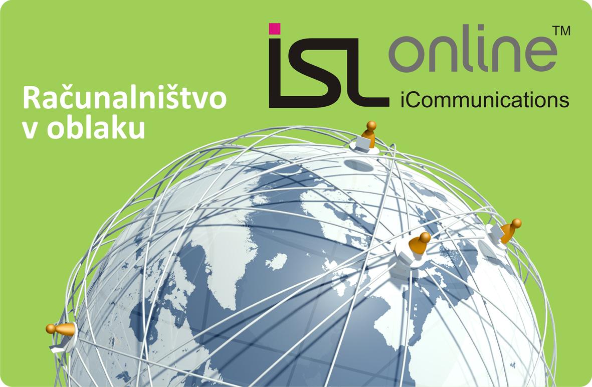 ISL Online-ova mreža strežnikov, ki temelji na tehnologiji računalništva v oblaku