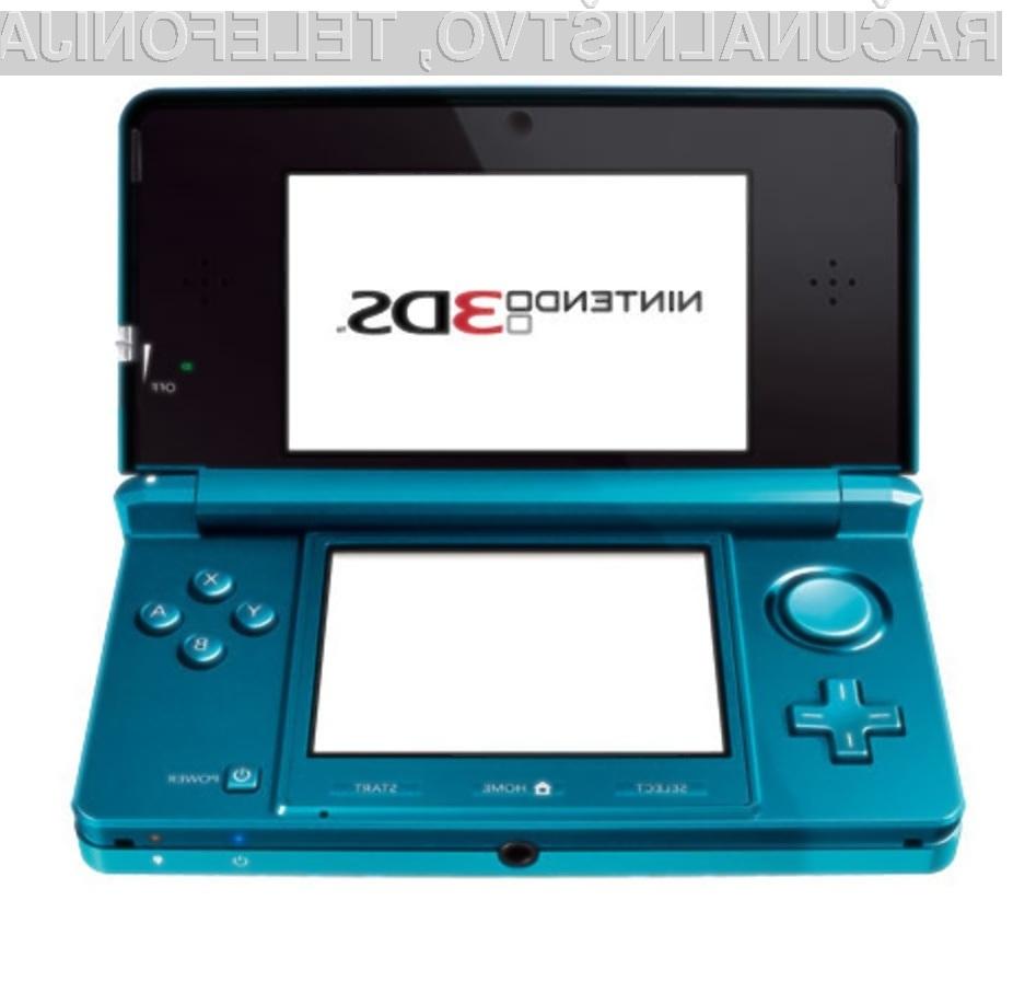 Igralna konzola Nintendo 3DS naj bi se tržila kot za stavo!