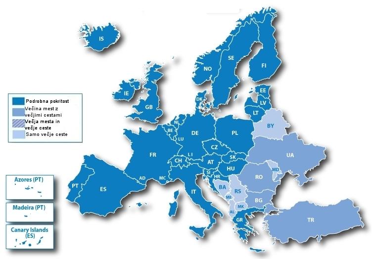Garmin - Nova nadgradnja evropske kartografije City Navigator Europe 2011.20