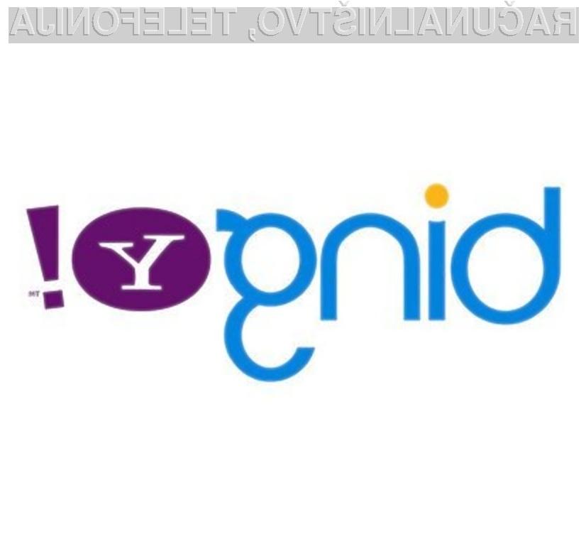 Naveza iskalnikov Yahoo! in Bing očitno deluje le v prid slednjega.