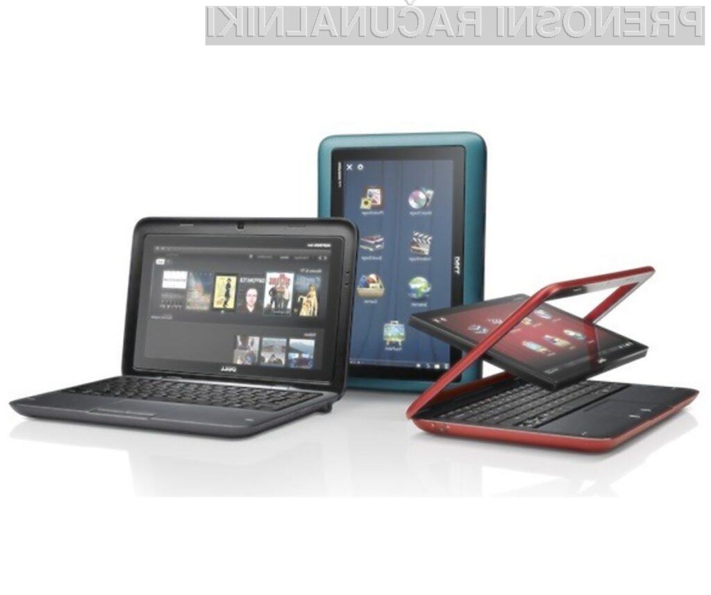Tablični in žepni računalnik Dell Inspiron Duo združuje tako uporabnost kot večopravilnost!