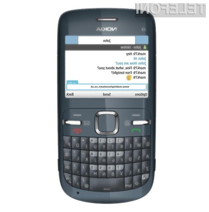 Cenovno ugodna Nokia C3 je pisana na kožo ljubiteljem socialni omrežij.