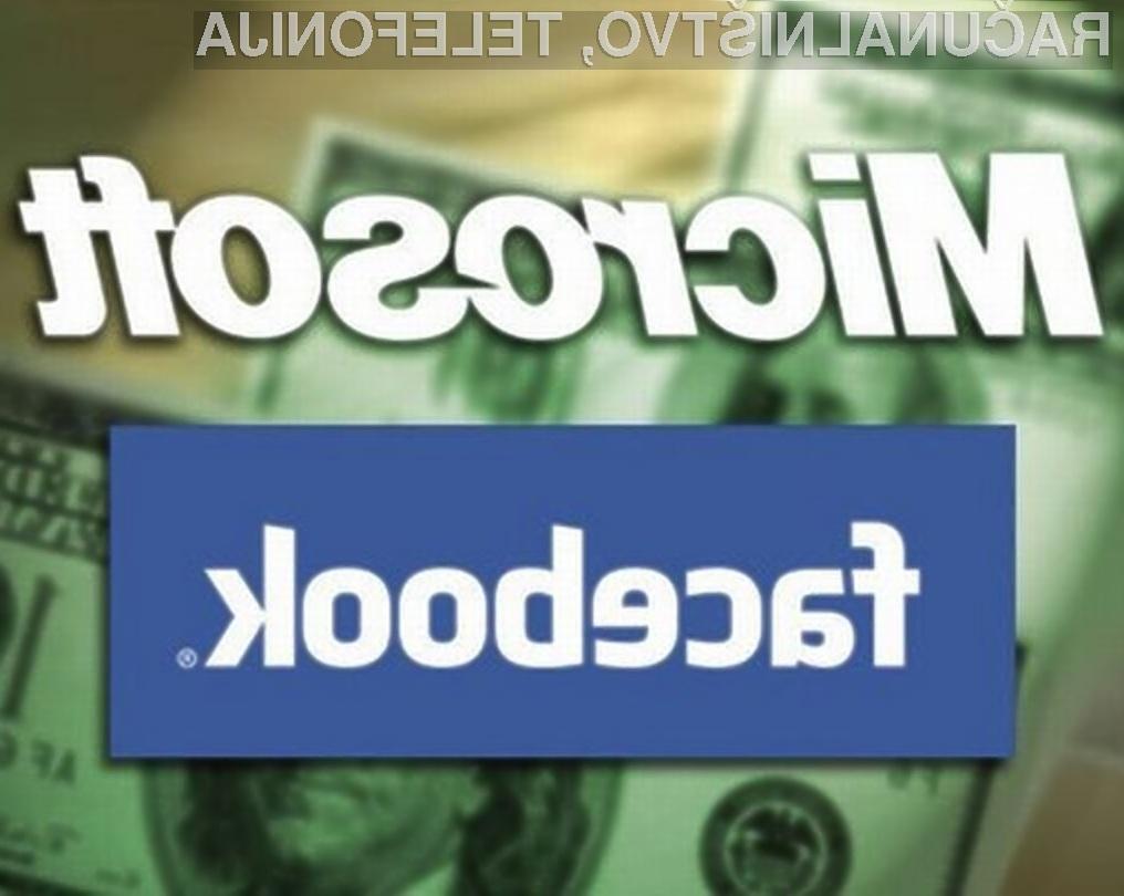 Je naveza Microsoft-Facebook uperjena proti Googlu?