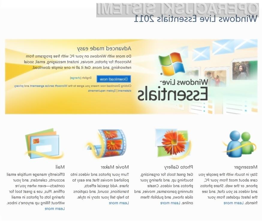 Programski paket Windows Live Essentials 2011 bo navdušil celo najzahtevnejše uporabnike.