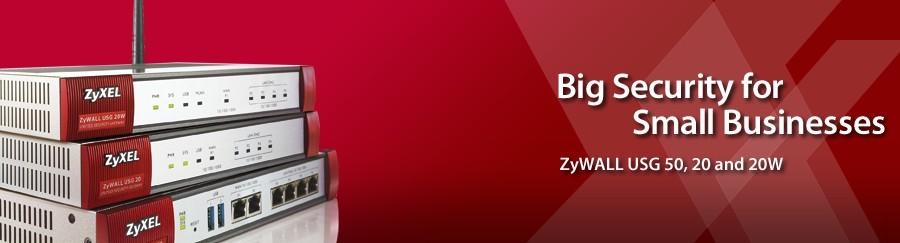 Velika varnost za majhna podjetja - ZyXEL USG 20, 20W in 50.