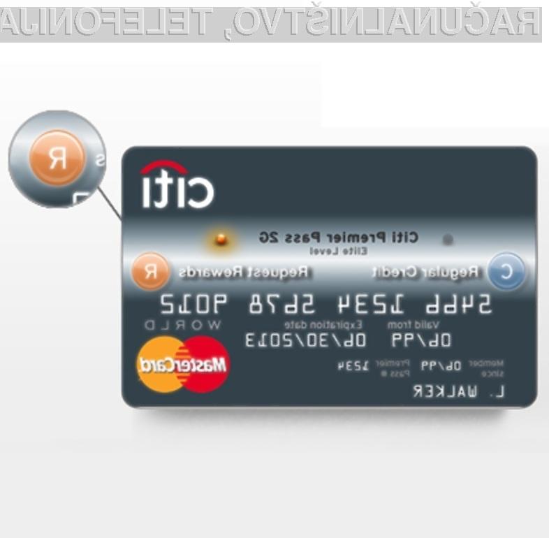 Ena kreditna kartica, več bančnih računov