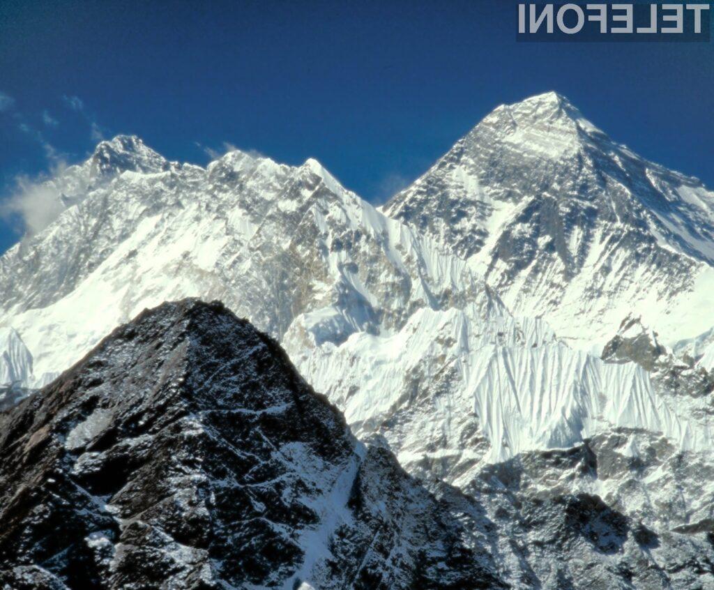 Najvišja gora na svetu je bogatejša za edinstveno bazno postajo 3G.