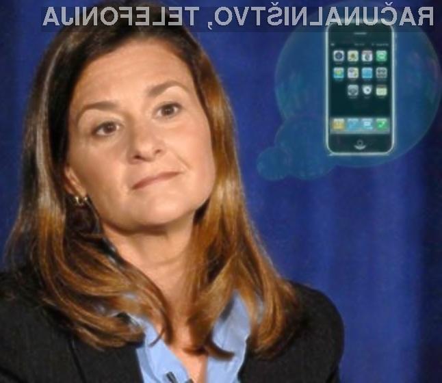 Melinda Gates je v lanskem letu sicer priznala, da je navdušena nad Applovim mobilnim telefonom iPhone.