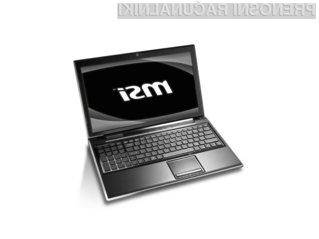 MSI-jev multimedijski 3D prenosnik