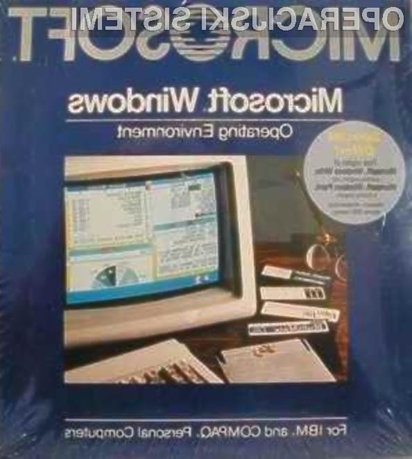Operacijski sistem Windows 1.0 je odločilno vplival na hiter razvoj računalništva!
