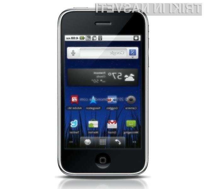 Googlov operacijski sistem Android se odlično prilega pametnim mobilnim telefonom iPhone.