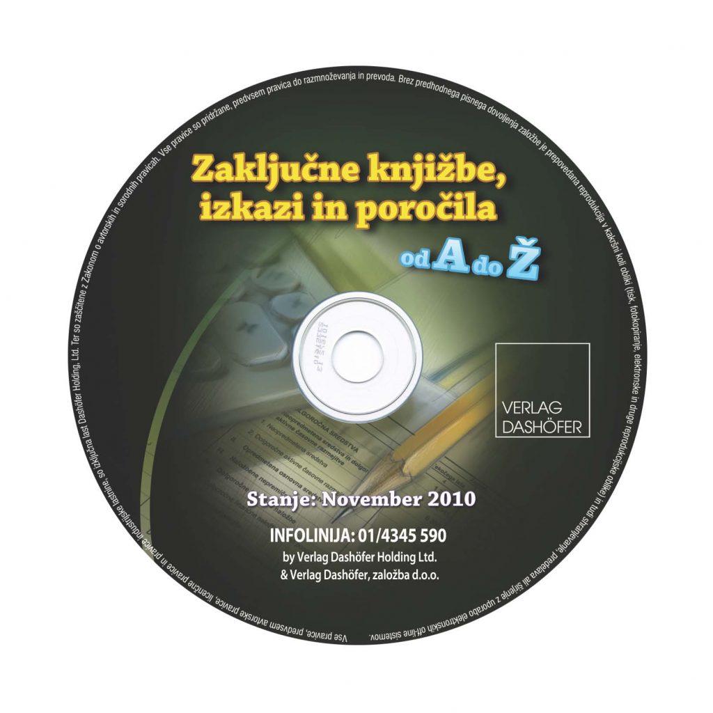 Zgoščenka Zaključne knjižbe, izkazi in poročila od A do Ž.