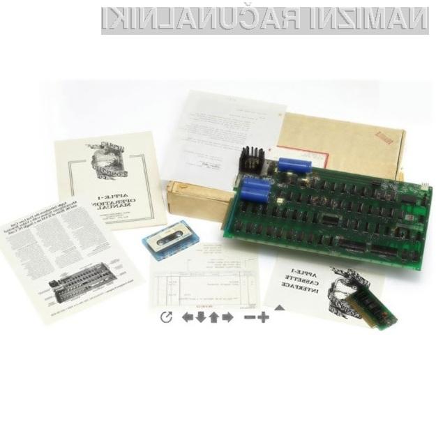 Računalniški sistem Apple-1 je med zbiratelji računalniških komponent izjemno priljubljen.