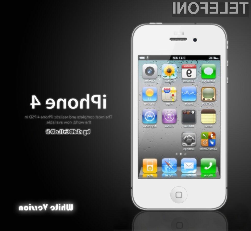 Bela ohišja za mobilnik iPhone 4 se prodajajo za med!