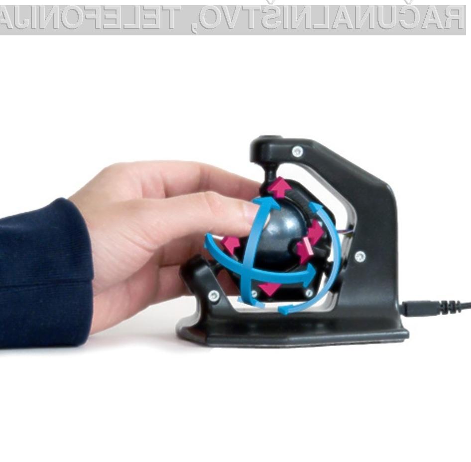Računalniška miška 3D-Spheric-Mouse je povsem pisana na kožo grafičnemu oblikovanju!