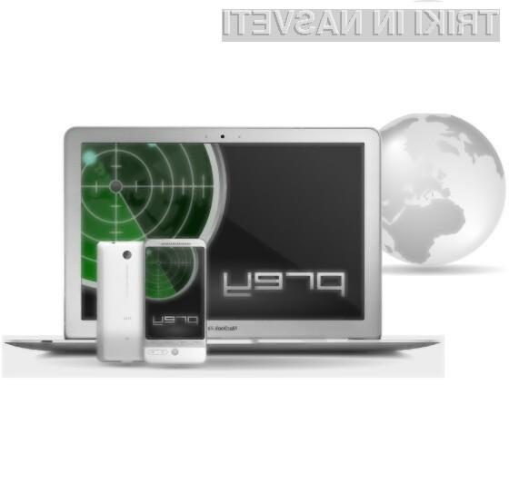 Programska oprema Prey je nadvse učinkovita pri iskanju izgubljene ali ukradene prenosne naprave.