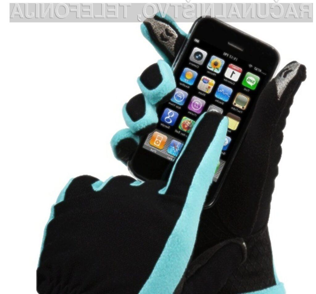 Posebnih rokavic bodo zagotovo najbolj veseli lastniki pametnih mobilnih telefonov.