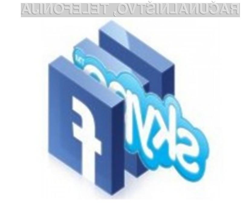 Združitev storitev podjetja Skype s socialnim omrežjem Facebook obeta veliko!