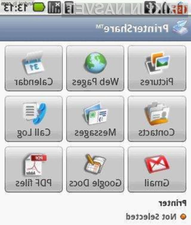 Tiskanje dokumentov z mobilnim telefonom Android še nikoli ni bilo enostavnejše!