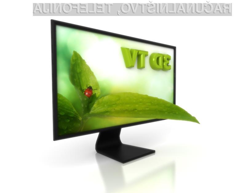 Tridimenzionalni televizorji, kot kaže, še ne bodo masovno vstopili v naše domove.