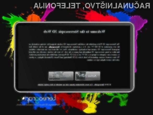 Prva 3D spletna stran na svetu!