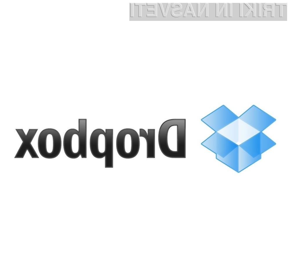 Dropbox brezplačno ponuja kar dva gigabajta prostora!