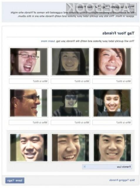Facebook uvaja opcijo prepoznavanja obrazov