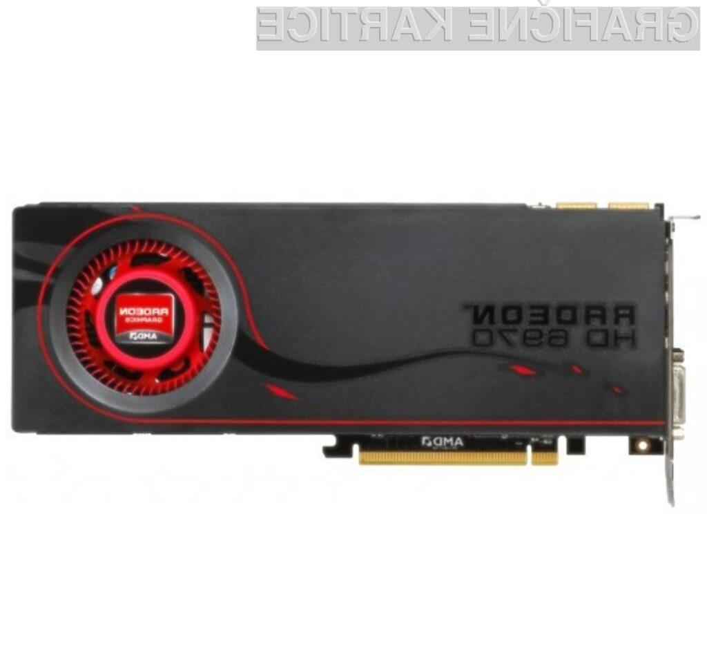Nadpovprečno zmogljiva grafična kartica AMD Radeon HD 6970.