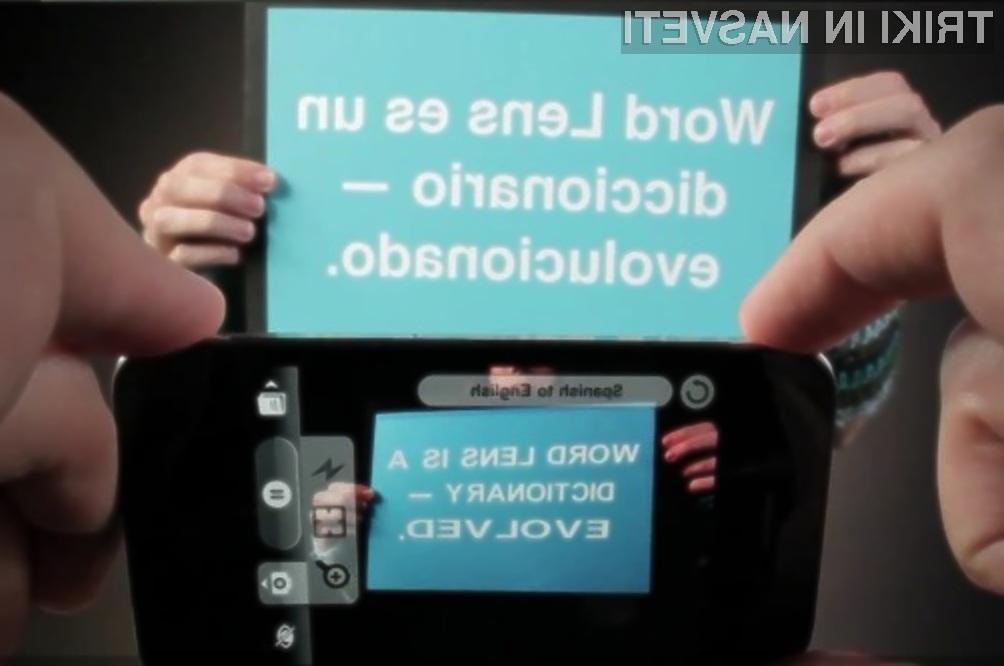 Programska oprema Word Lens za mobilnik iPhone je pri prevajanju sila zanesljiva.