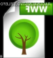 WWF dokumente je tako kot druge mogoče brez problema pošiljati po e-pošti.