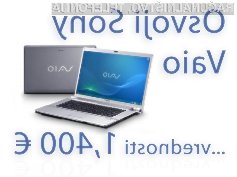 Za vas smo pripravili zares enkratno nagradno igro - glavna nagrada je prenosnik Sony Vaio, vrednosti kar 1,400 € !