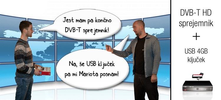 DVB-T sprejemnik s USB ključkom