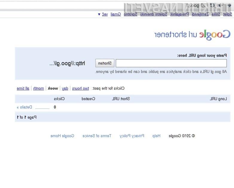 Skrčevalnik spletnih naslovov Google goo.gl več kot odlično opravlja svoje delo!