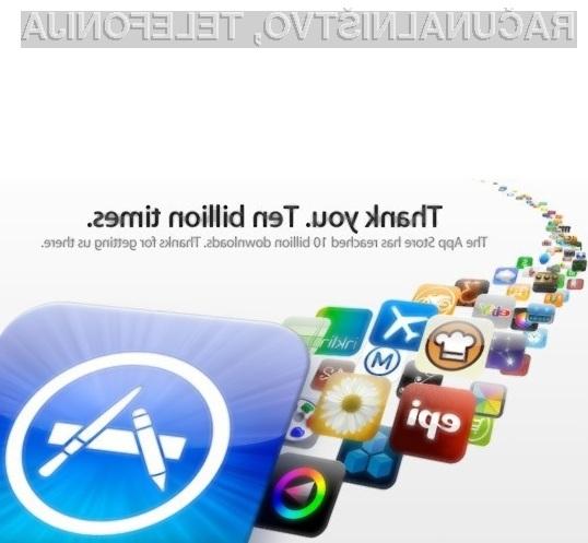 Spletna prodajalna App Store je dosegla občudovanja vreden mejnik prenosa programov!
