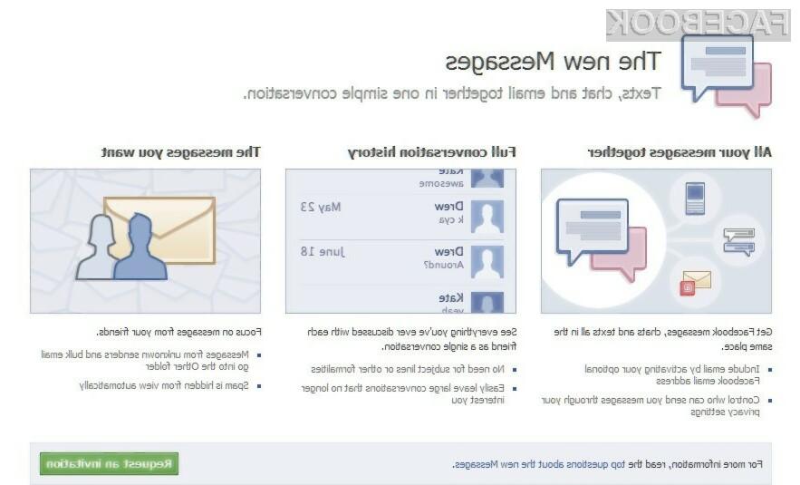 Če še niste prejeli povabila, lahko od danes naprej sami zaprosite povabilo za uporabo novega sistema za  izmenjavo elektronske pošte.