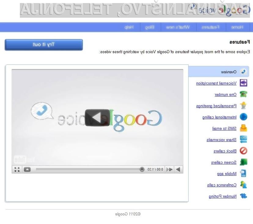 Storitev Google Voice je kot švicarski nož!