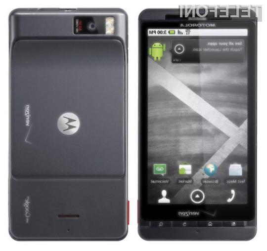 Oblikovno naj bi bil mobilnik precej podoben modelu Droid X (na sliki).
